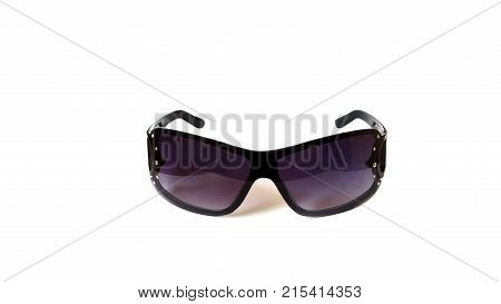 Sun glasses with gradient isolated on white background