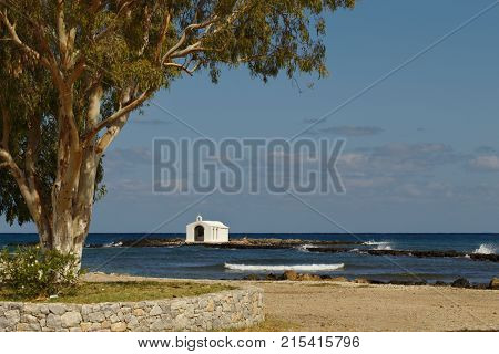 The fishermen's chapel dedicated to St Nicholas at Georgioupoli in Crete