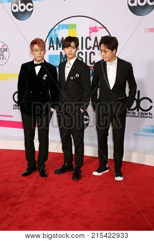 LOS ANGELES - NOV 19:  GOT 7 at the American Music Awards 2017 at Microsoft Theater on November 19, 2017 in Los Angeles, CA