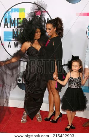 LOS ANGELES - NOV 19:  Diana Ross, Chudney Ross at the American Music Awards 2017 at Microsoft Theater on November 19, 2017 in Los Angeles, CA