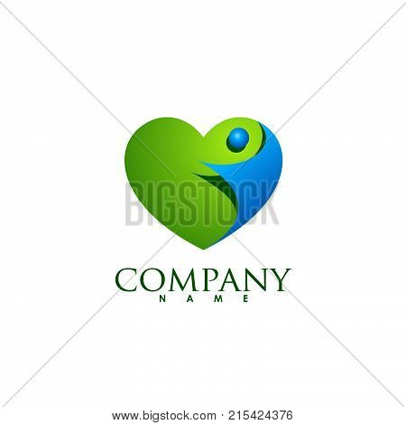 Heart icon vector logo, Heart logo, heart shape, love logo concept, Heart logo, Heart icon, Love, health or doctor and relations symbol, Heart vector logo, heart together icons