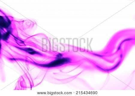 pink smoke on white background . Photo of an abstract texture