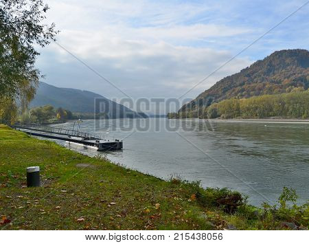 view of the Danube River region Wachau Austria