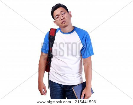 Disappointed Young Asian Male Student