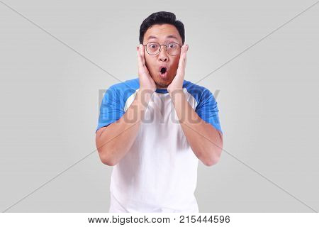 Asian Man Shocked With Mouth Open