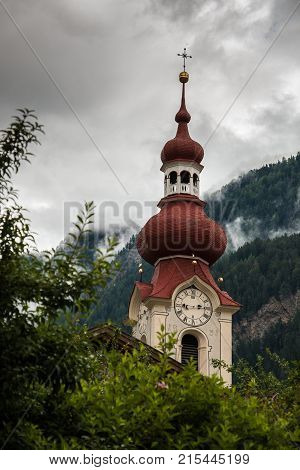 Little church in the mountains of Austria
