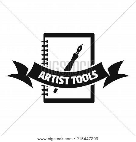 Artwork logo. Simple illustration of artwork vector logo for web