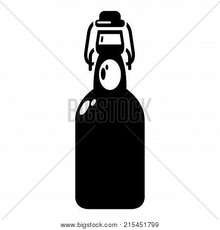 Bottle with bung icon. Simple illustration of bottle with bung vector icon for web