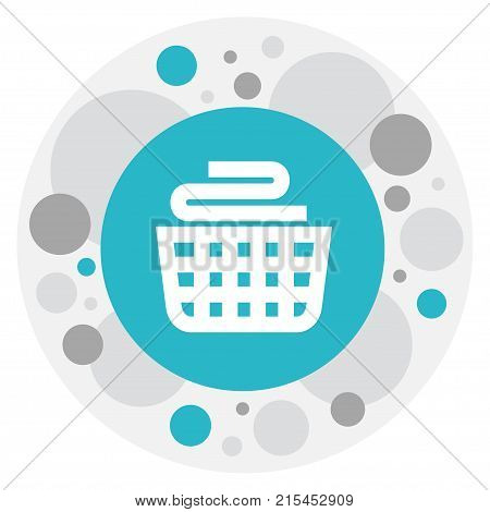 Vector Illustration Of Cleanup Symbol On Laundry Basket Icon