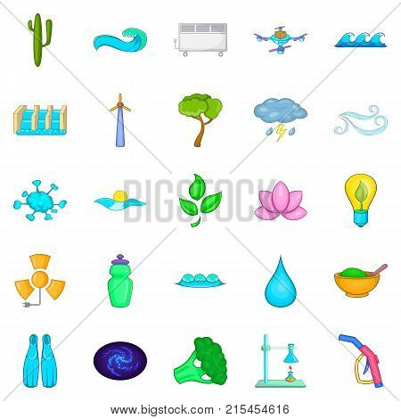 Strength icons set. Cartoon set of 25 strength vector icons for web isolated on white background