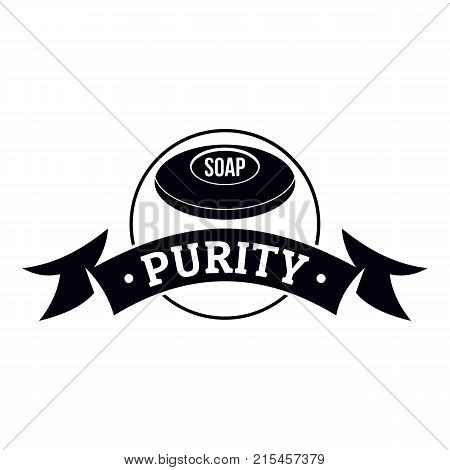Soap purity logo. Simple illustration of soap purity vector logo for web