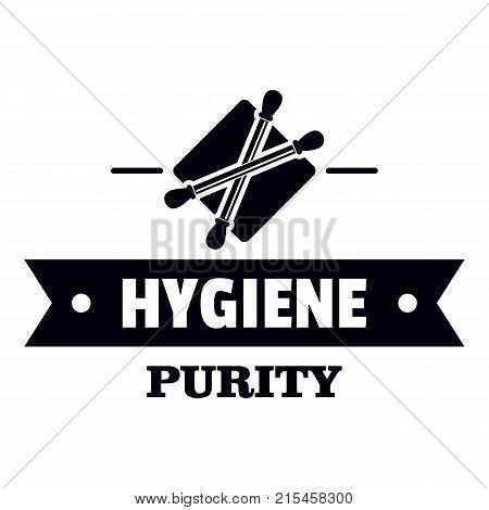 Hygiene ear logo. Simple illustration of hygiene ear vector logo for web