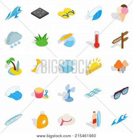 Improve your health icons set. Isometric set of 25 improve your health vector icons for web isolated on white background