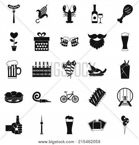 Beer get together icons set. Simple set of 25 beer get together vector icons for web isolated on white background