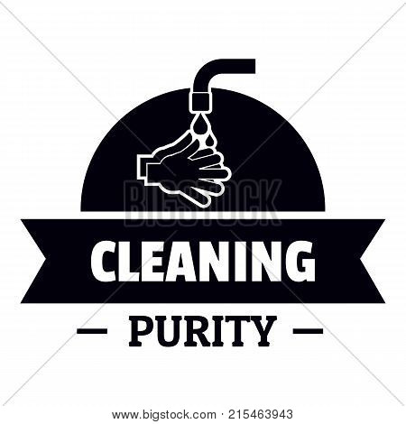 Cleaning purity logo. Simple illustration of cleaning purity vector logo for web