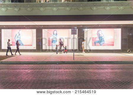 Shops At Rivercenter Premier Shopping Center Mall On Black Friday Night