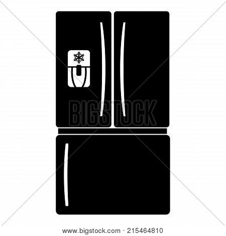 Fridge icon. Simple illustration of fridge vector icon for web