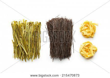 Gluten Free, high fibre pasta. Black bean spaghetti, green soybean fettuccine and tagliatelle.