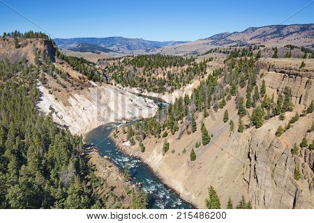 Calcite springs area of the Yellowstone National Park, Wyoming, USA