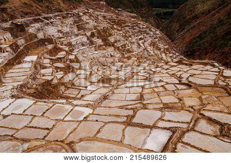 The ancient salt pans of Maras Peru