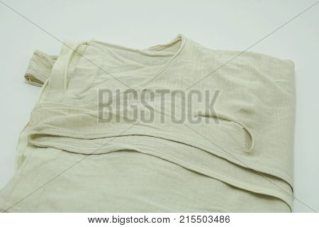 Old Tank Top is lacking on white background sufficiency economic concept
