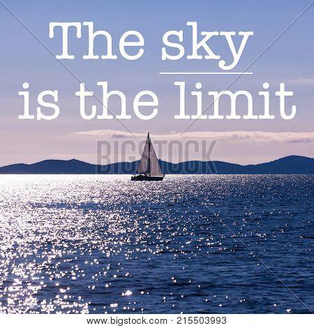Inspirational Motivation Quote Beautiful Blue Seascape