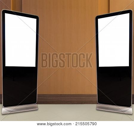 Blank bill board for advertising stand on floor
