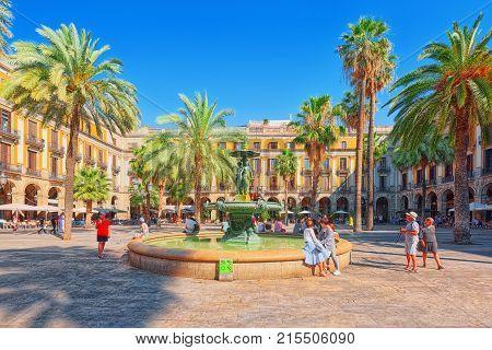 View Of Royal Square (placa Real) And Pedagogical Science Museum (museo Pedagogico De Ciencias). Bar