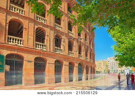 Bullring Of Valencia And Bullfighting Museum Of Valencia. Spain.