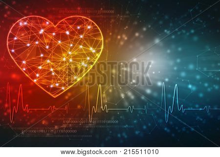 Medical abstract background, ecg background, medical technology background