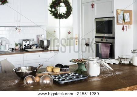 Christmas baking in the kitchen