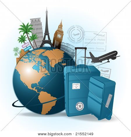 Travel around the world background
