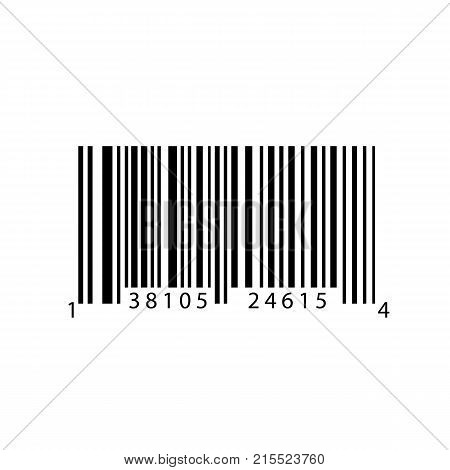 Barcode with numbers. Bar code for web. Simple icon isolated on white background. Vector illustration.