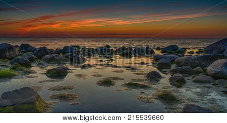 Colorful Sunset Over Baltic Sea