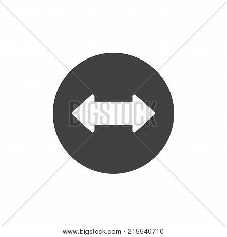 Left and right arrow icon vector, filled flat sign, solid pictogram isolated on white. Two side arrow symbol, logo illustration.