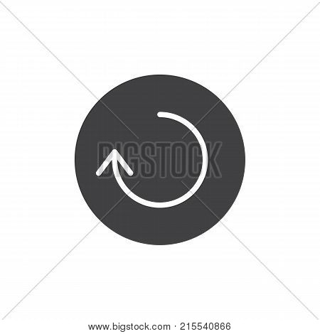 Reload arrow icon vector, filled flat sign, solid pictogram isolated on white. Symbol, logo illustration.