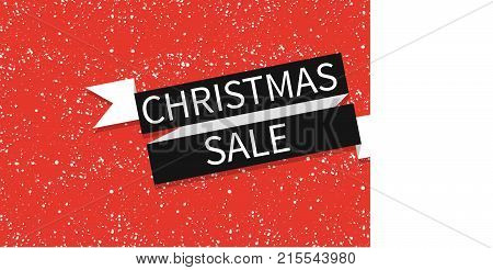 Christmas sale vector greeting card on winter background. Brochure, greeting card or banner template. -stock vector