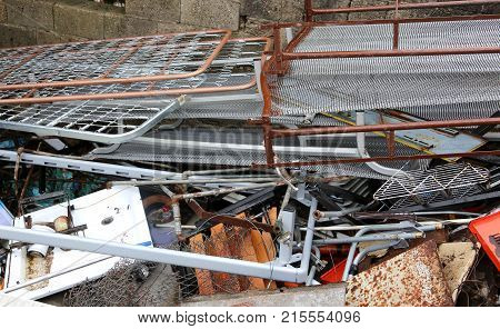 Scrap In A Landfill For The Recycling Of Material