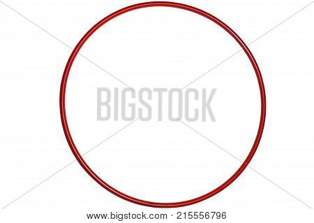 The Hula Hoop Red Isolated On White Background