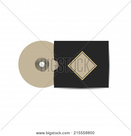 Cd and cover with template of corporate identity and branding theme Isolated design Vector illustration