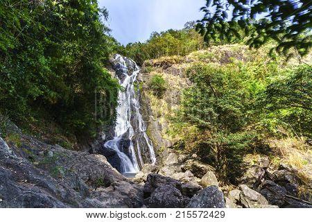 Sarika Waterfall the nine-tiered waterfall in the Khao Yai National Park Nakhon Nayok Thailand