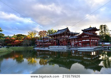 Byodoin is the well-known temple in Kyoto, Japan, which was built in 1052. It is very historical buddhism temple and beautiful so it attracts many tourists.