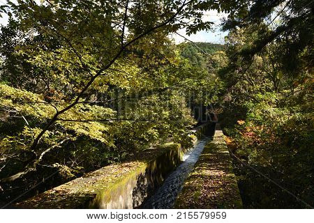Waterway at Zen Temple, Nanzenji in Kyoto