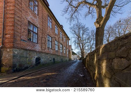 The Old Town in Fredrikstad, Norway. An old town, and Northern Europe's best preserved Fortified town