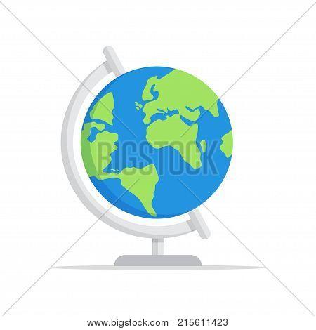 Earth globe icon vector illustration. School globe