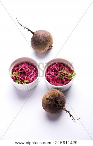 Chukandar or Beetroot Raita / Pachadi also known as koshimbir or salad