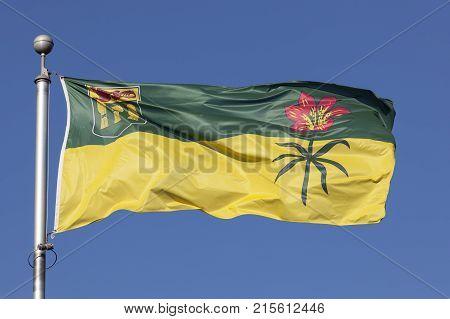National flag of the province of Saskatchewan Canada