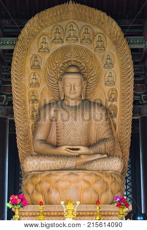Wooden Buddha Sculptures