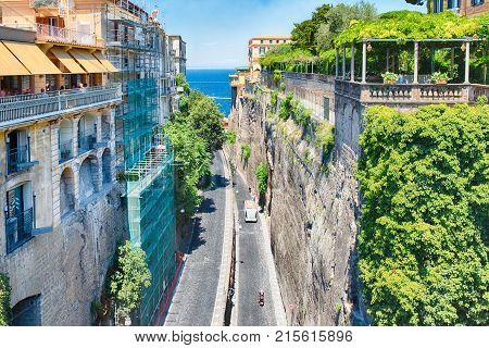 Scenic Aerial View Of Sorrento, Italy