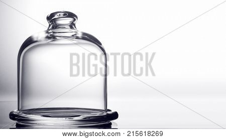 glass dome to preserve on white background.